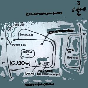 Handgezeichnete Karte von Kados