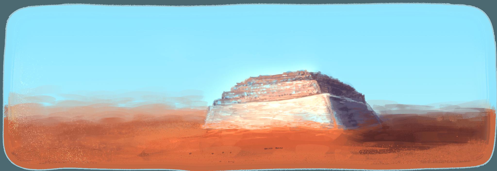 Bild der fiktiven Wüstenstadt aus
